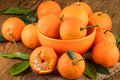 Mandarins Tangerines on Rustic Background Royalty Free Stock Photo