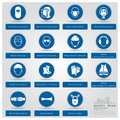 Mandatory safety sign icons set design Royalty Free Stock Images