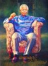 Mandela nelsonu znaczek Zdjęcie Royalty Free