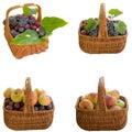 Manden met fruit Royalty-vrije Stock Afbeelding