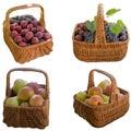 Manden met fruit Royalty-vrije Stock Foto's