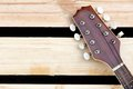 Mandolin headstock background Stock Image