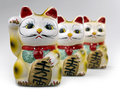 Maneki Neko ( clipping path ) Stock Photo