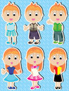 Manga Boy Girl Happy Set_eps Royalty Free Stock Photos