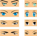 Manga eyes Stock Images