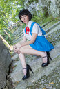 Manga Schoolgirl Royalty Free Stock Photo