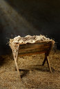 Manger and Crown of Thorns Royalty Free Stock Photo