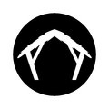 Manger stable figure silhouette icon Royalty Free Stock Photo