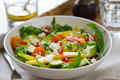 Mango with Avocado,Pomegranate and Feta cheese salad Stock Image