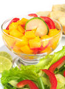Mango, Bell Pepper, Cucumber Salad Stock Image