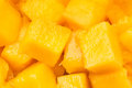 Mango chunks Stock Images
