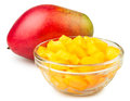 Mango chunks bowl Royalty Free Stock Photography