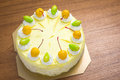Mango ice cream cake Royalty Free Stock Photo