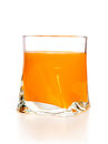 Mango juice in glass Stock Image