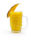 Mango juice isolated white background Stock Image