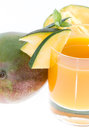 Mango Juice (on white) Stock Photography