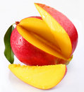 Mango with lobules Royalty Free Stock Photo