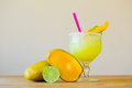 Mango Margarita with Lime Royalty Free Stock Photo