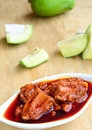 Mango pickle a made of raw an indian specialty Stock Photo