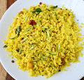 Mango rice is a south indian preparation usually eaten as a snack Stock Image