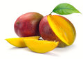 Mango with section Royalty Free Stock Photo
