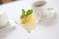 Mango sherbet icecream Royalty Free Stock Photo