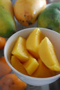Mango slice Royalty Free Stock Images