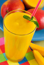 Mango smoothie Royalty Free Stock Images