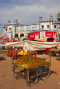 Mango stalls in front of charminar Royalty Free Stock Photo