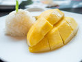 Mango sticky rice thai dessert Royalty Free Stock Photography