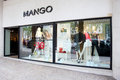 Mango store front window display and entrance situated in rua da liberdade lisbon portugal photo taken april Stock Image