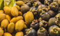 Mango tai tailand fruit yellow food market yammi colors Stock Images