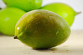 Mangoes fruit fresh green close up Royalty Free Stock Image