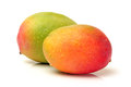 Mangos on a white background Stock Photography
