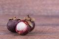 Mangosteen fruit Royalty Free Stock Photo