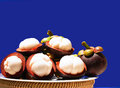 Mangosteen is a popular fruit for asian it has been dubbed queen of fruits Stock Image