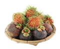 Mangosteen and rambutan Royalty Free Stock Images