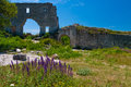 Mangup kale crimea beautiful view of the historic in Stock Images