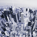 Manhattan from above Royalty Free Stock Photo