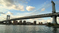 Manhattan Bridge in New York Stock Photo