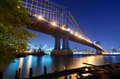Manhattan Bridge in New York Stock Images