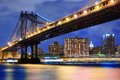 Manhattan bridge the in new york city Stock Photos