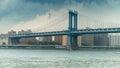 Manhattan bridge new york city Royalty Free Stock Photos