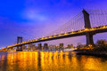 Manhattan bridge new york city usa Stock Photography