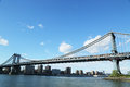 Manhattan bridge new york may on may the is a suspension that crosses the east river it was opened on Stock Images