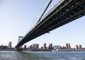 Manhattan Bridge towards midtown New York Stock Images