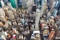 Manhattan cityscape with skyscrapers, New York City (aerial view Royalty Free Stock Photo