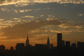 Manhattan at dusk new york city Stock Image