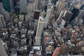 Manhattan from empire state building view Royalty Free Stock Photography