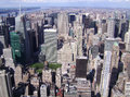 Manhattan, New York city from Empire State building, vintage style, New York City, USA Stock Photography